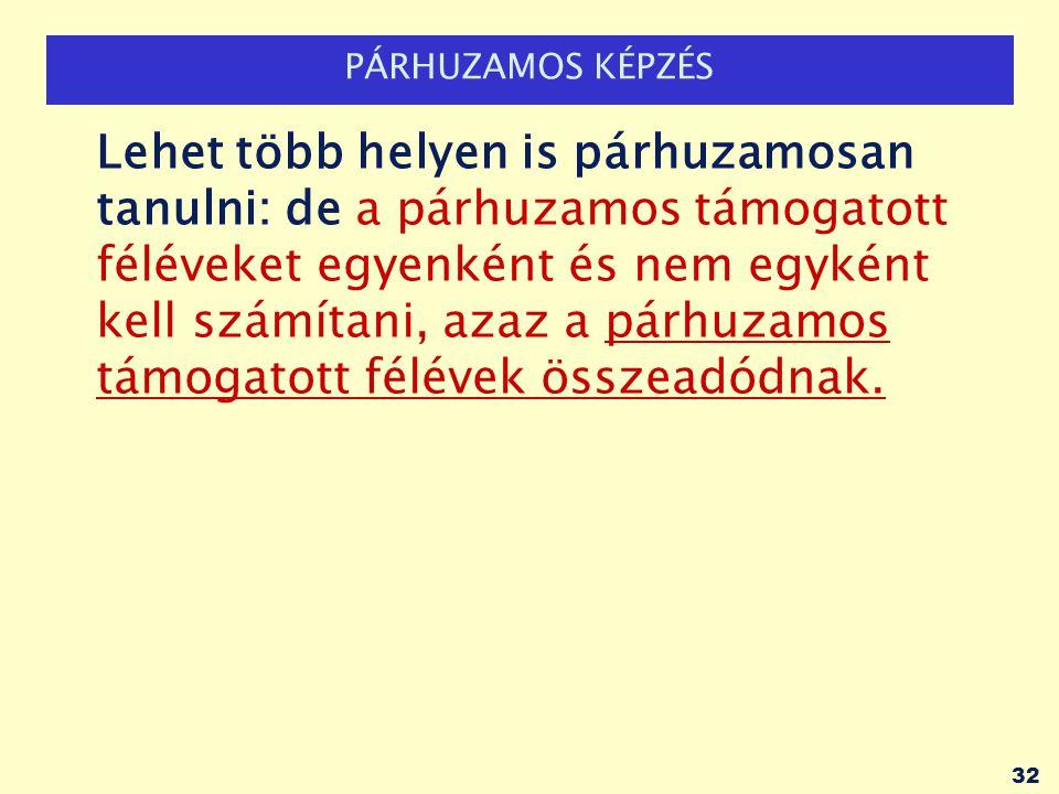 PÁRHUZAMOS KÉPZÉS