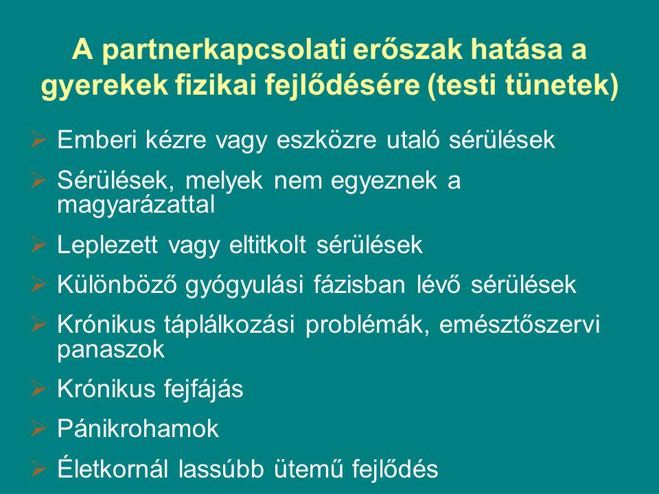A partnerkapcsolati erőszak hatása a gyerekek fizikai fejlődésére (testi tünetek)