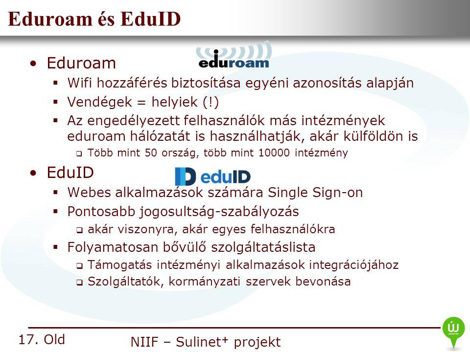 Eduroam és EduID Eduroam EduID