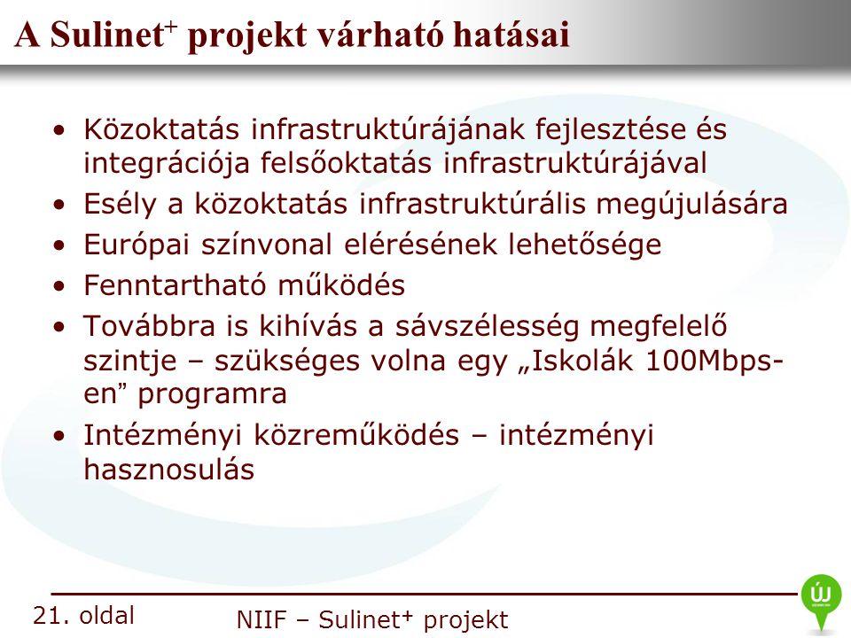 A Sulinet+ projekt várható hatásai