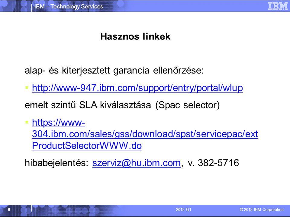 alap- és kiterjesztett garancia ellenőrzése: