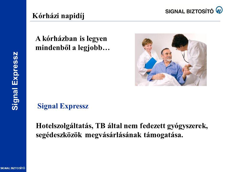 Kórházi napidíj A kórházban is legyen mindenből a legjobb… Signal Expressz.