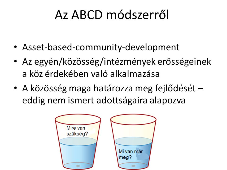 Az ABCD módszerről Asset-based-community-development