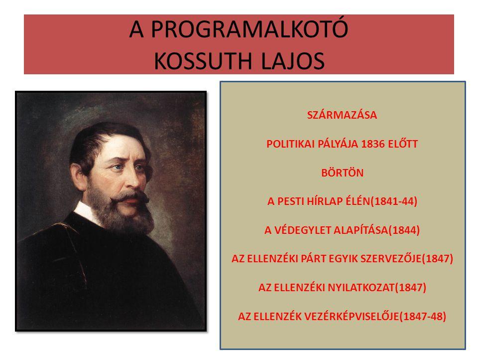 A PROGRAMALKOTÓ KOSSUTH LAJOS