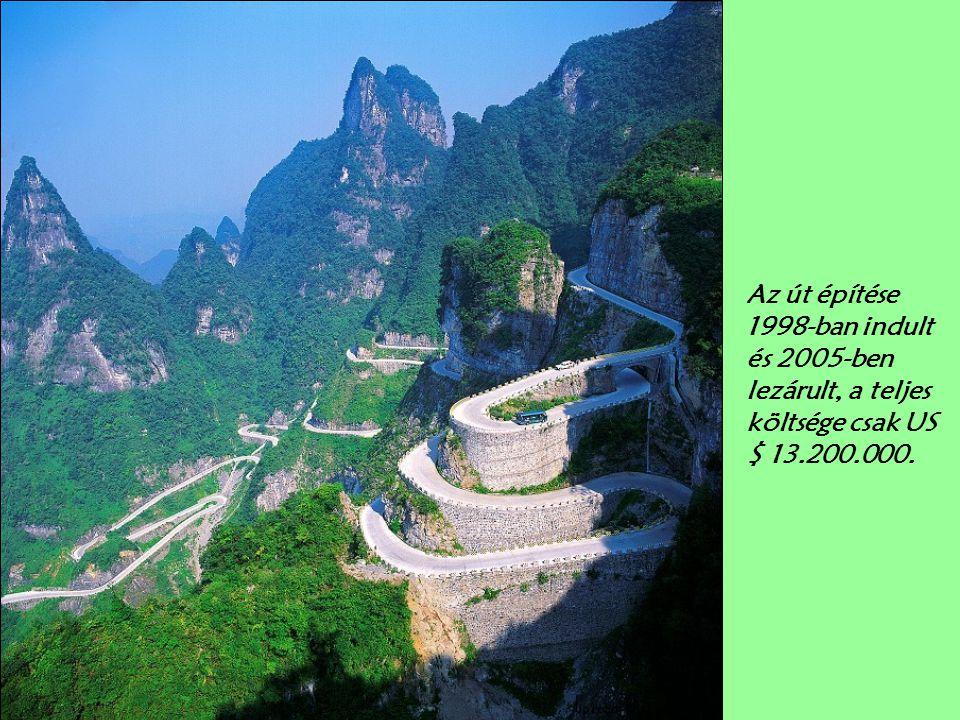 Az út építése 1998-ban indult és 2005-ben lezárult, a teljes költsége csak US $ 13.200.000.
