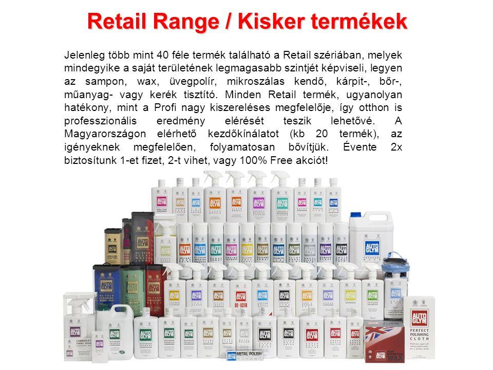 Retail Range / Kisker termékek