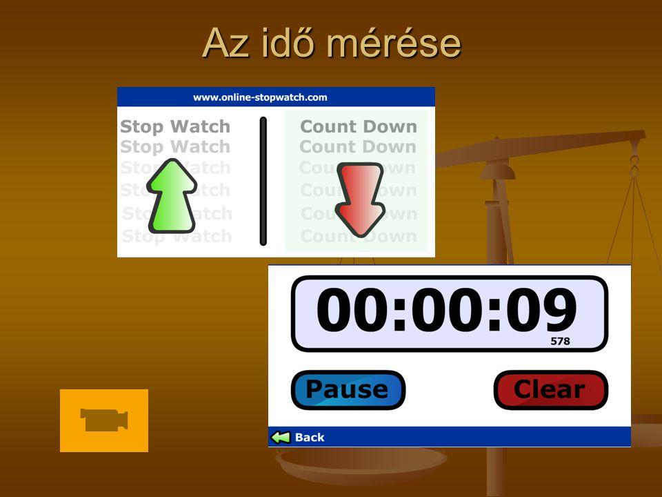 Az idő mérése