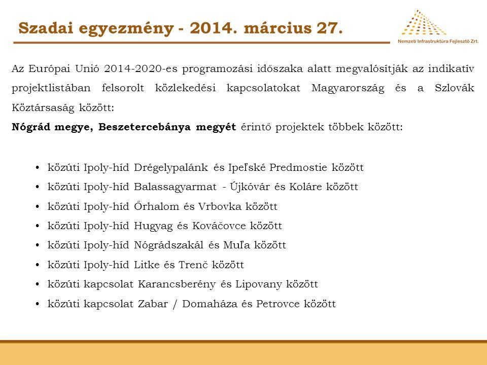 Szadai egyezmény - 2014. március 27.