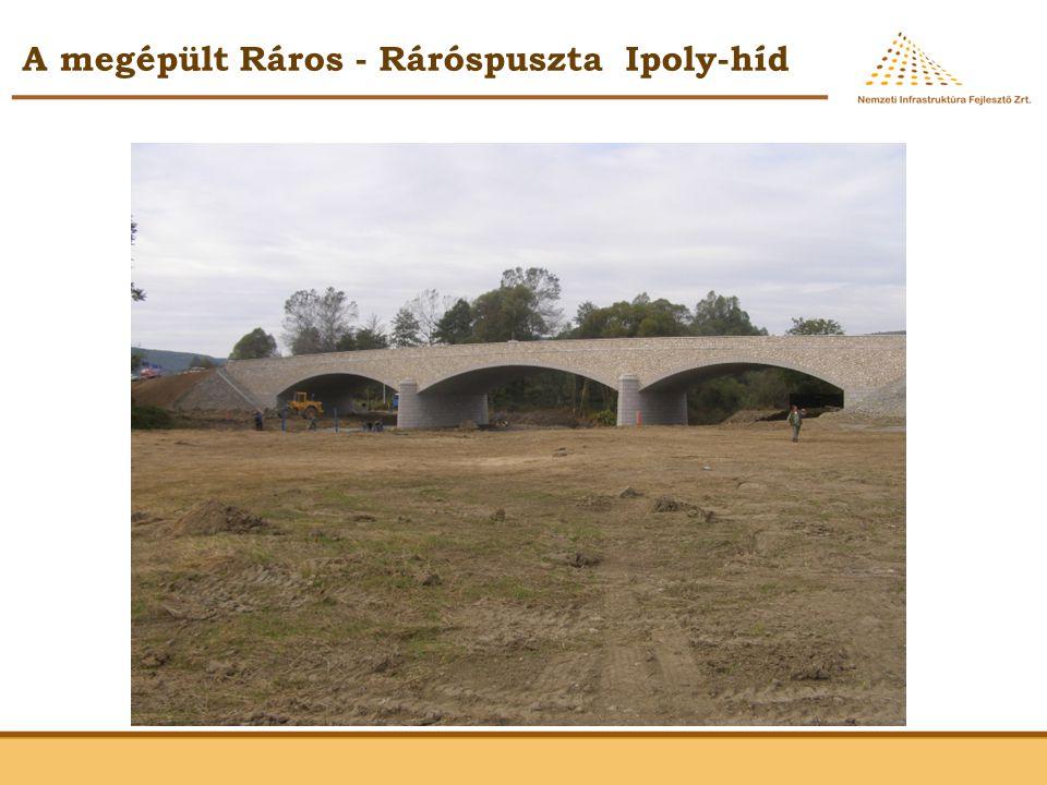 A megépült Ráros - Ráróspuszta Ipoly-híd