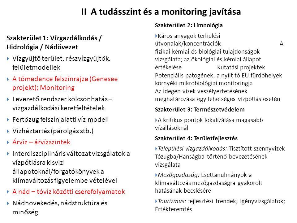 II A tudásszint és a monitoring javítása