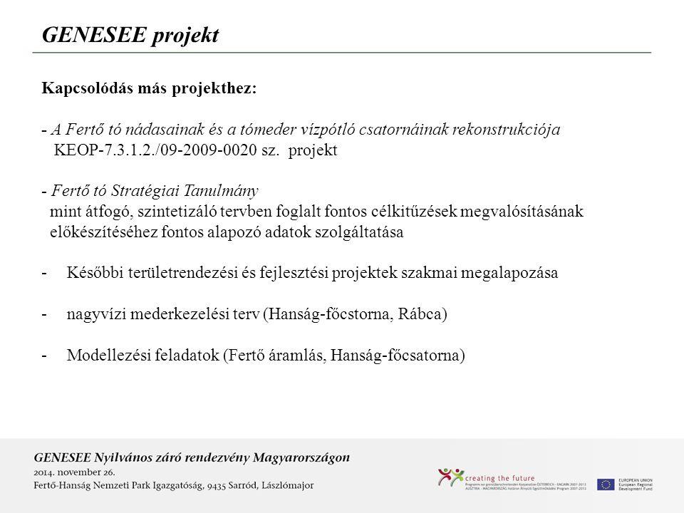 GENESEE projekt Kapcsolódás más projekthez: