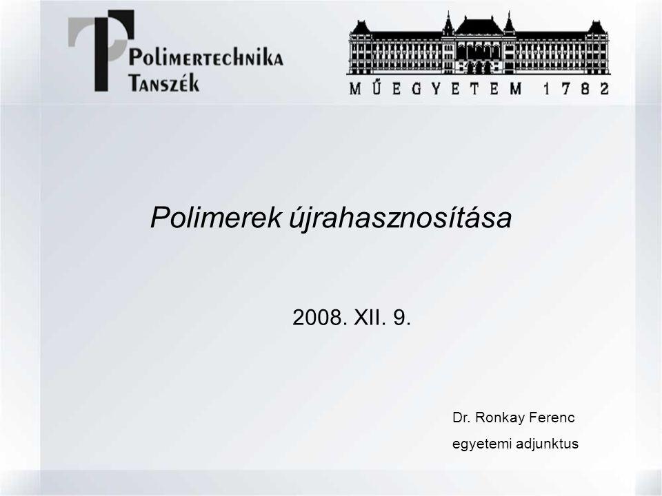 Polimerek újrahasznosítása