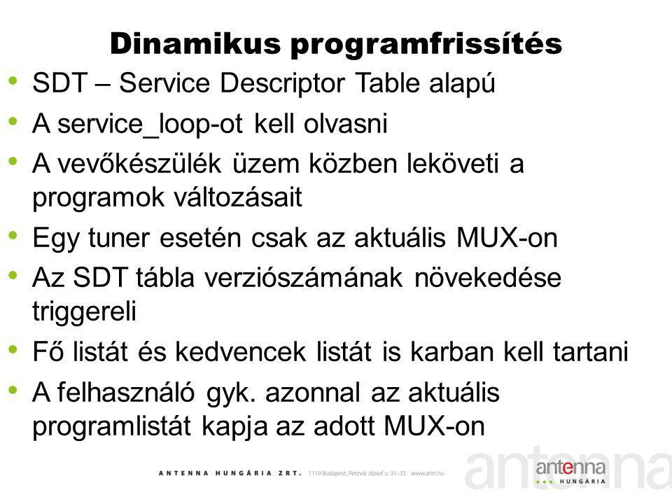Dinamikus programfrissítés