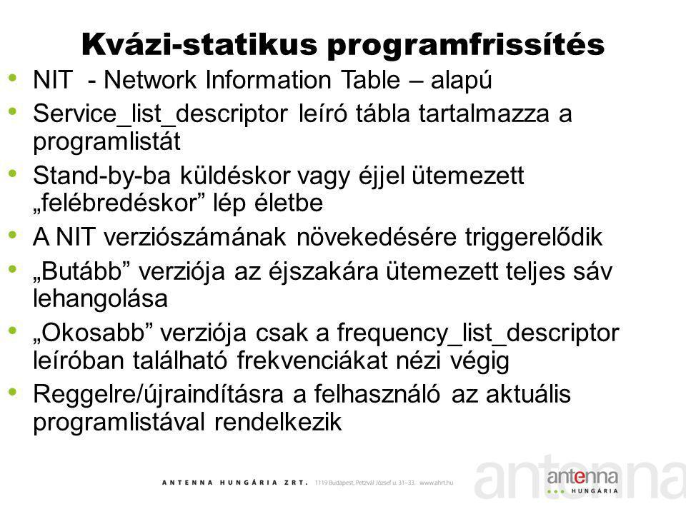 Kvázi-statikus programfrissítés