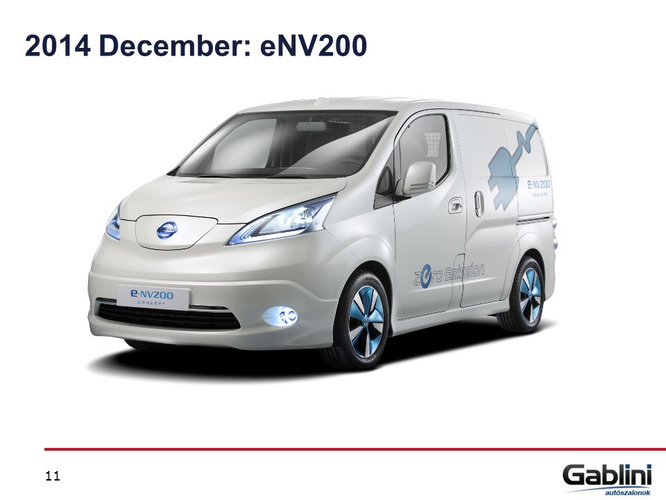 2014 December: eNV200 NV200 2014 June, NISMO we will get in FY14 for retail events 11 11
