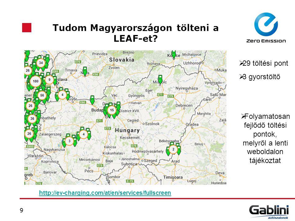 Tudom Magyarországon tölteni a LEAF-et