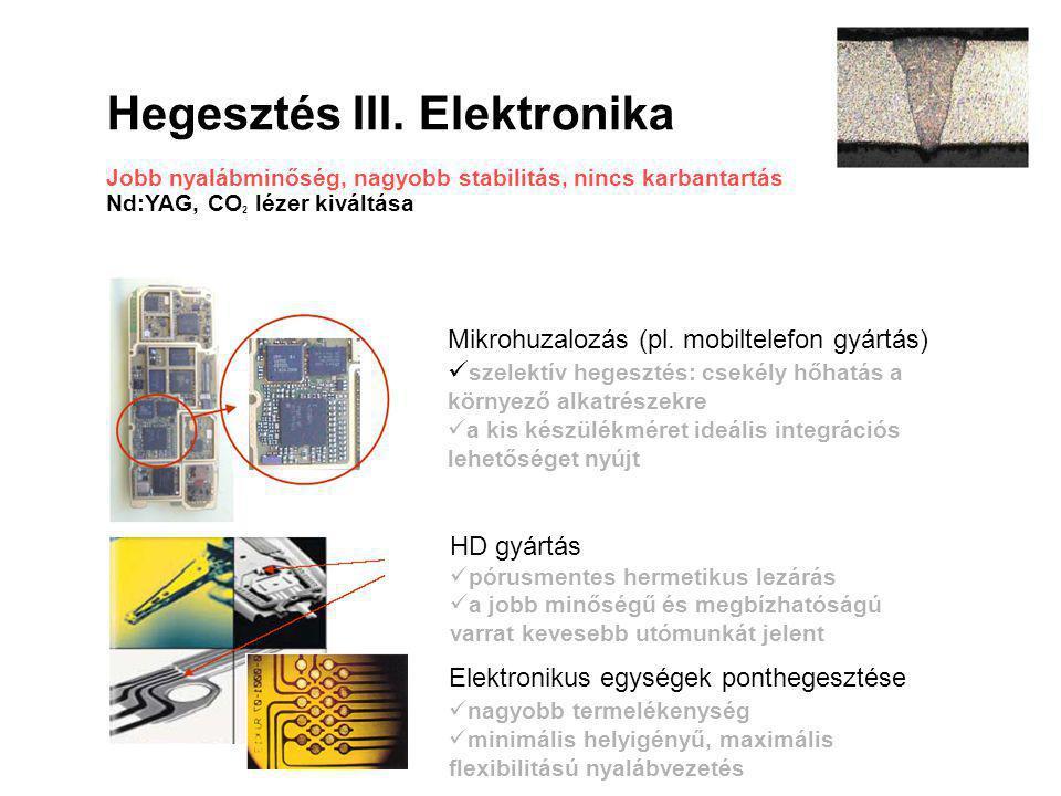Hegesztés III. Elektronika