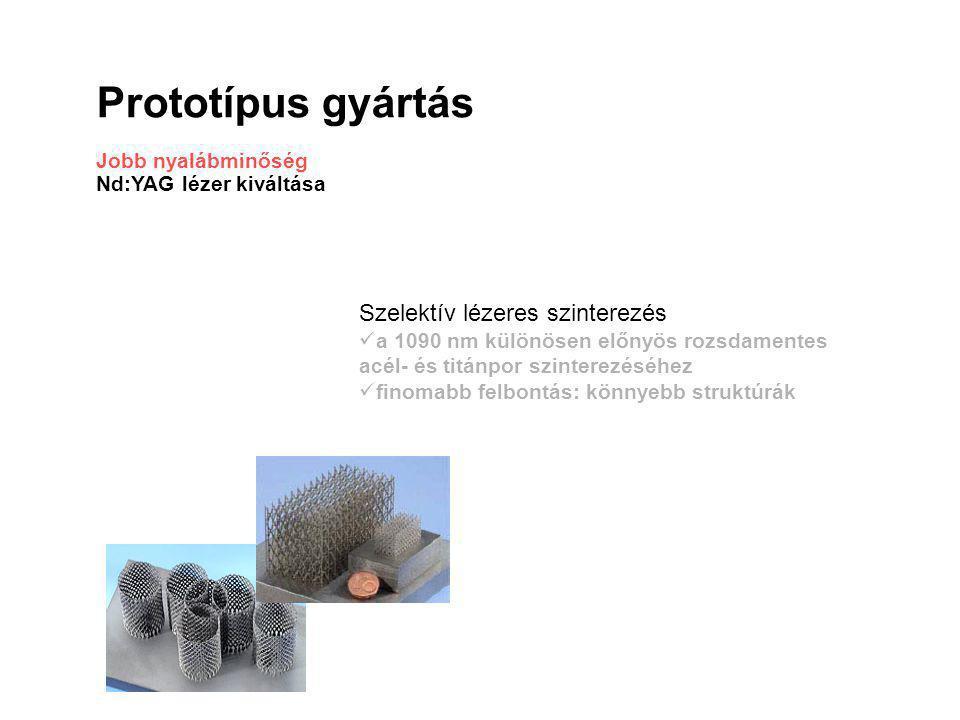 Prototípus gyártás Jobb nyalábminőség Nd:YAG lézer kiváltása