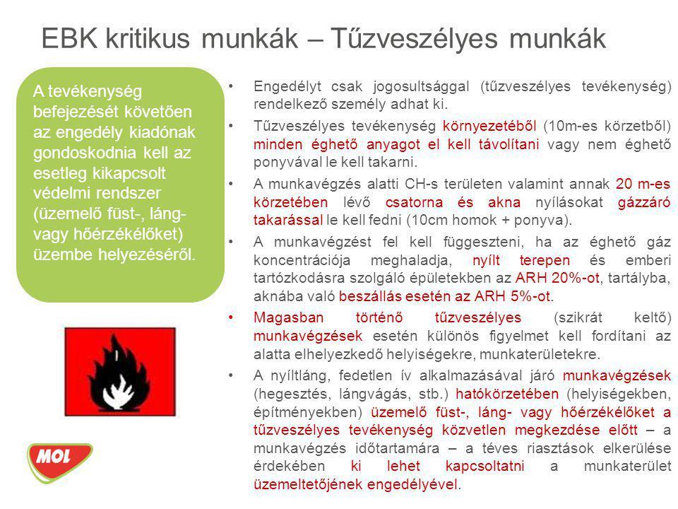 EBK kritikus munkák – Tűzveszélyes munkák