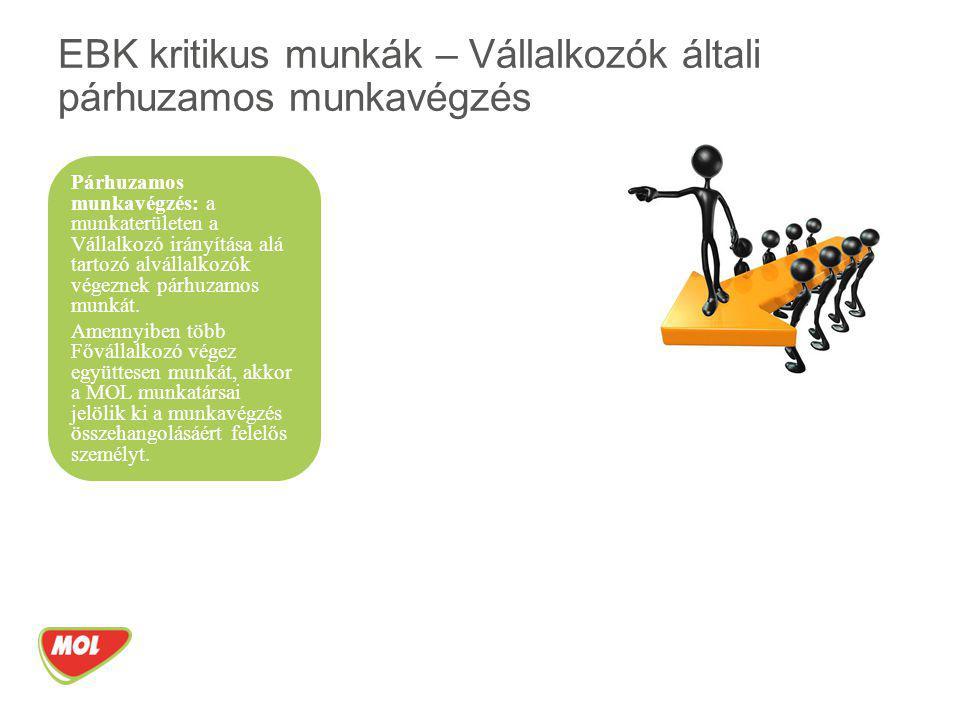 EBK kritikus munkák – Vállalkozók általi párhuzamos munkavégzés
