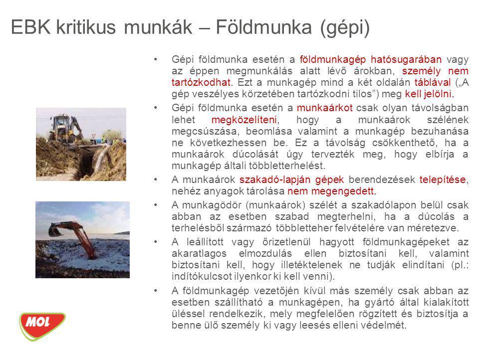 EBK kritikus munkák – Földmunka (gépi)