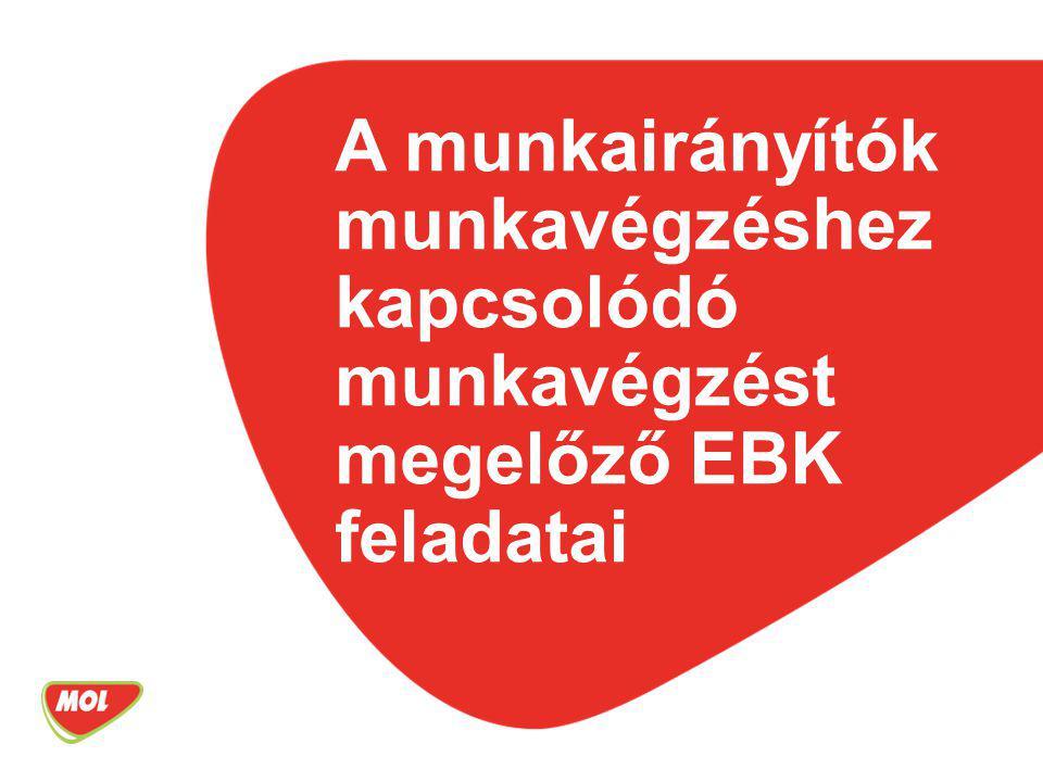 A munkairányítók munkavégzéshez kapcsolódó munkavégzést megelőző EBK feladatai