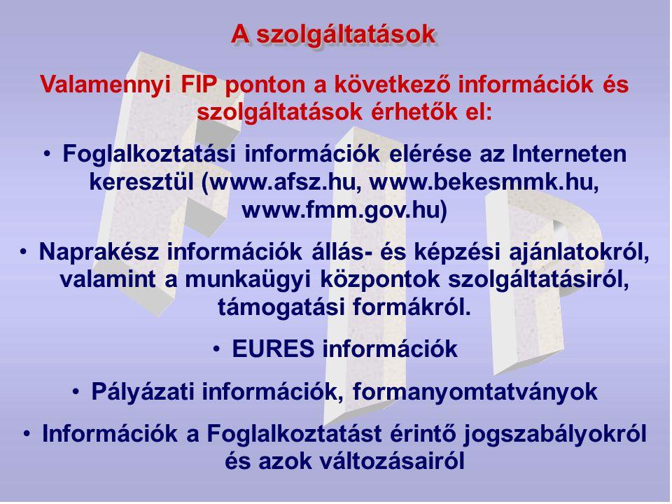 Pályázati információk, formanyomtatványok