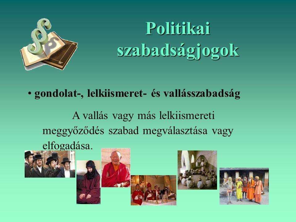 Politikai szabadságjogok