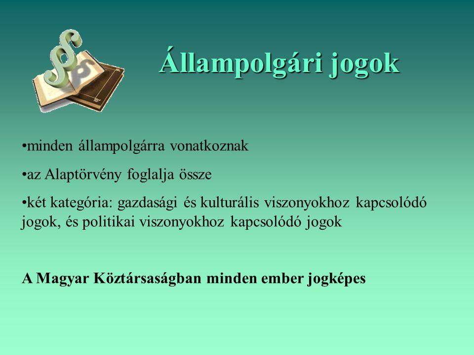 Állampolgári jogok minden állampolgárra vonatkoznak