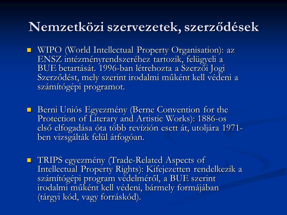 Nemzetközi szervezetek, szerződések