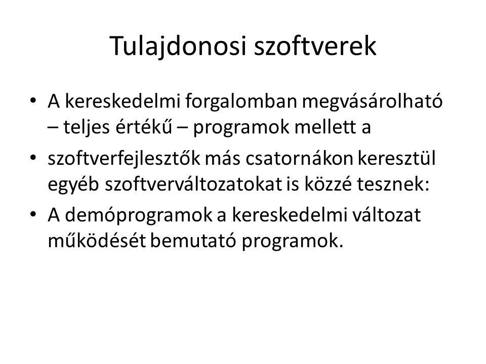 Tulajdonosi szoftverek