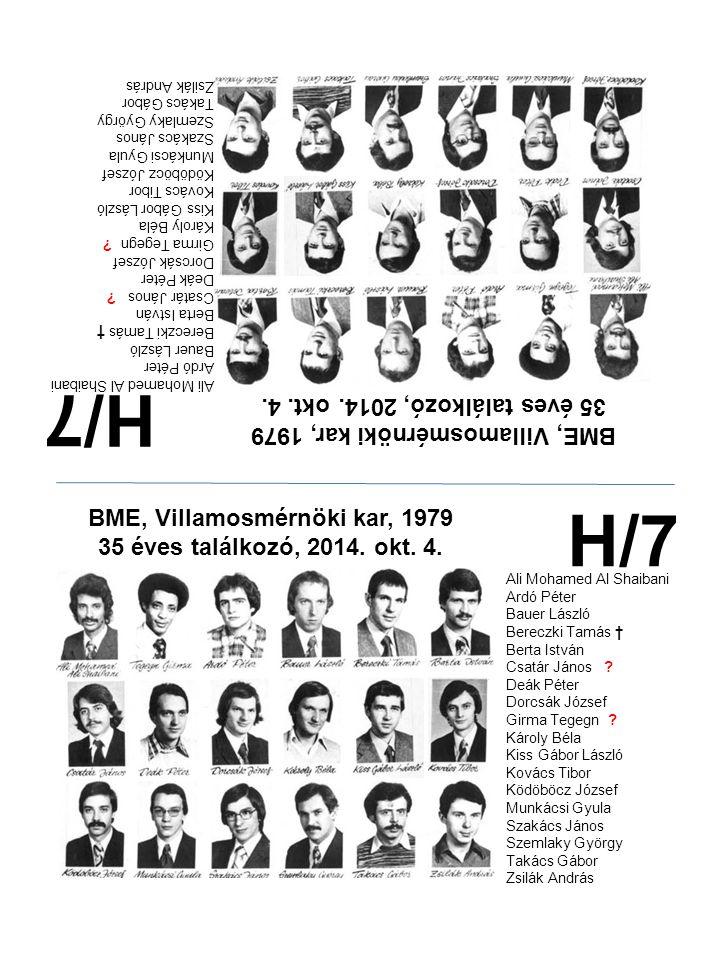 H/7 H/7 35 éves találkozó, 2014. okt. 4.