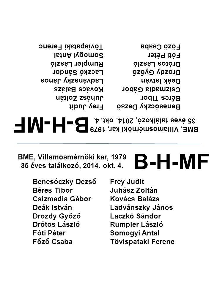 B-H-MF B-H-MF Főző Csaba Fóti Péter Drótos László Drozdy Győző