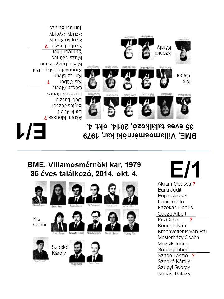 E/1 E/1 35 éves találkozó, 2014. okt. 4.