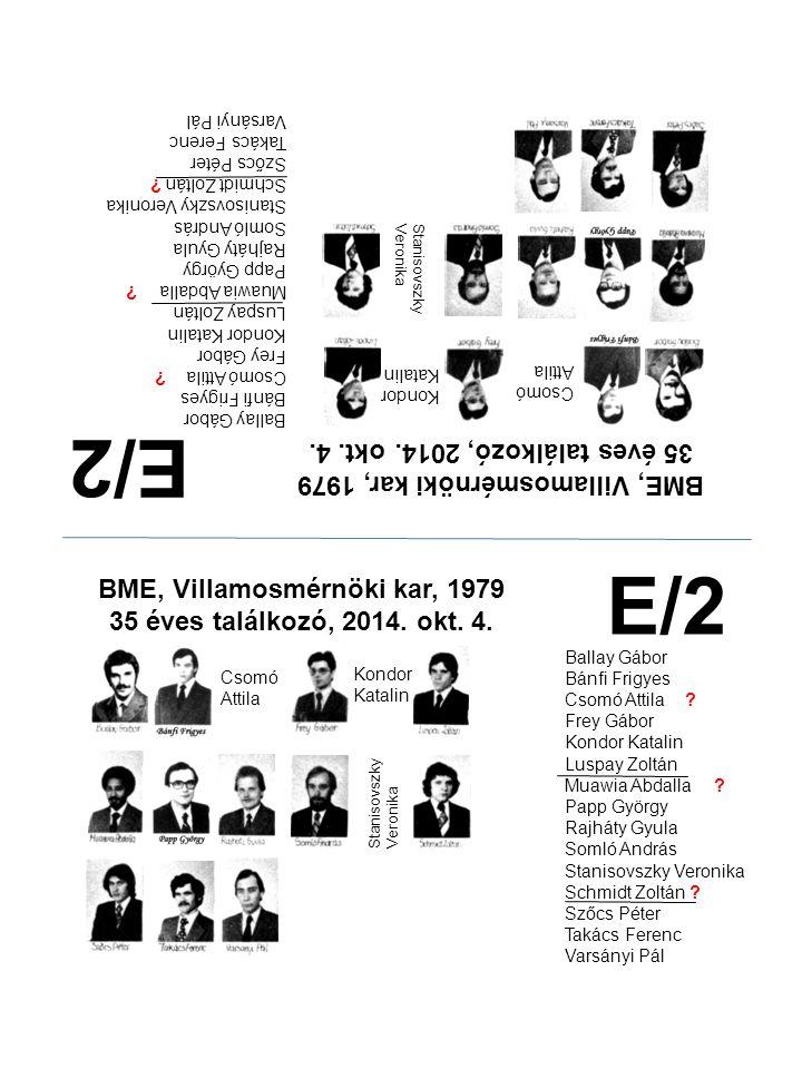E/2 E/2 35 éves találkozó, 2014. okt. 4.