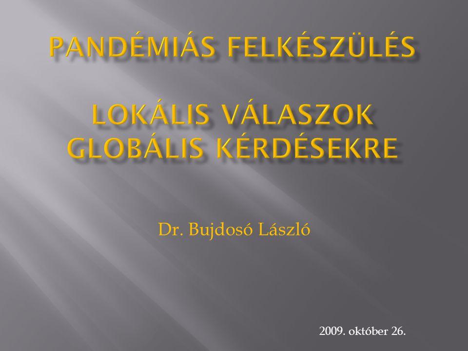 Pandémiás felkészülés Lokális válaszok globális kérdésekre