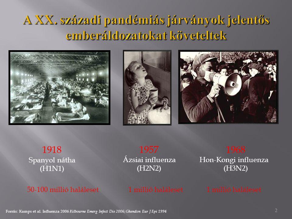 A XX. századi pandémiás járványok jelentős emberáldozatokat követeltek