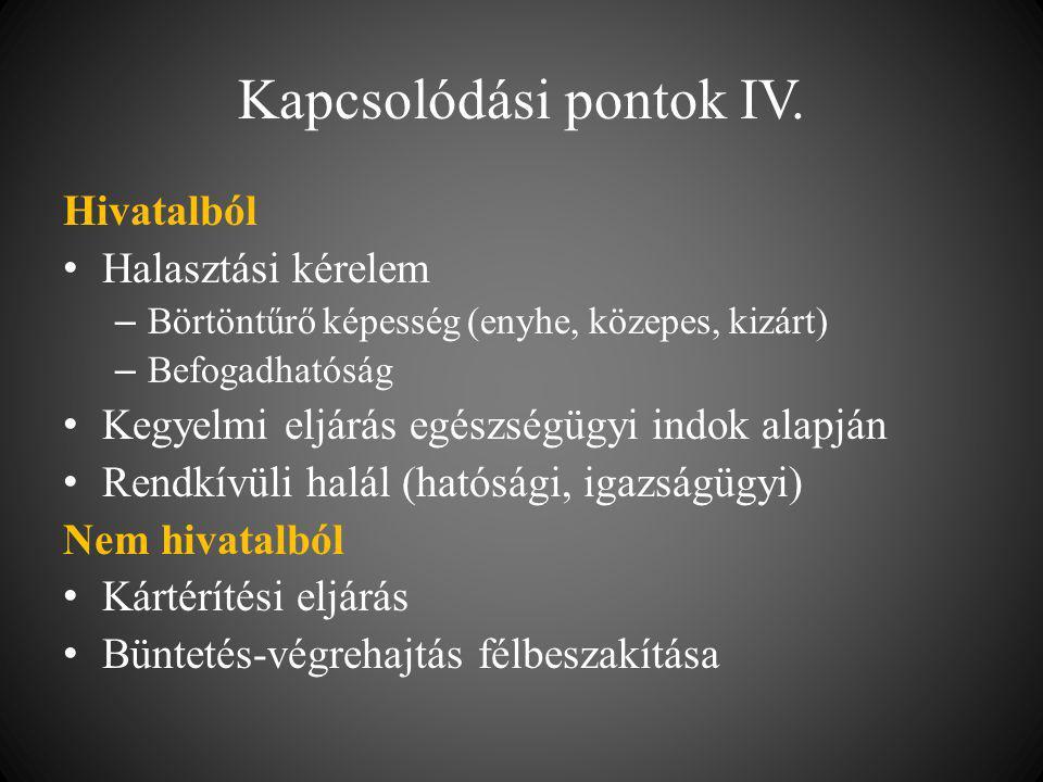 Kapcsolódási pontok IV.