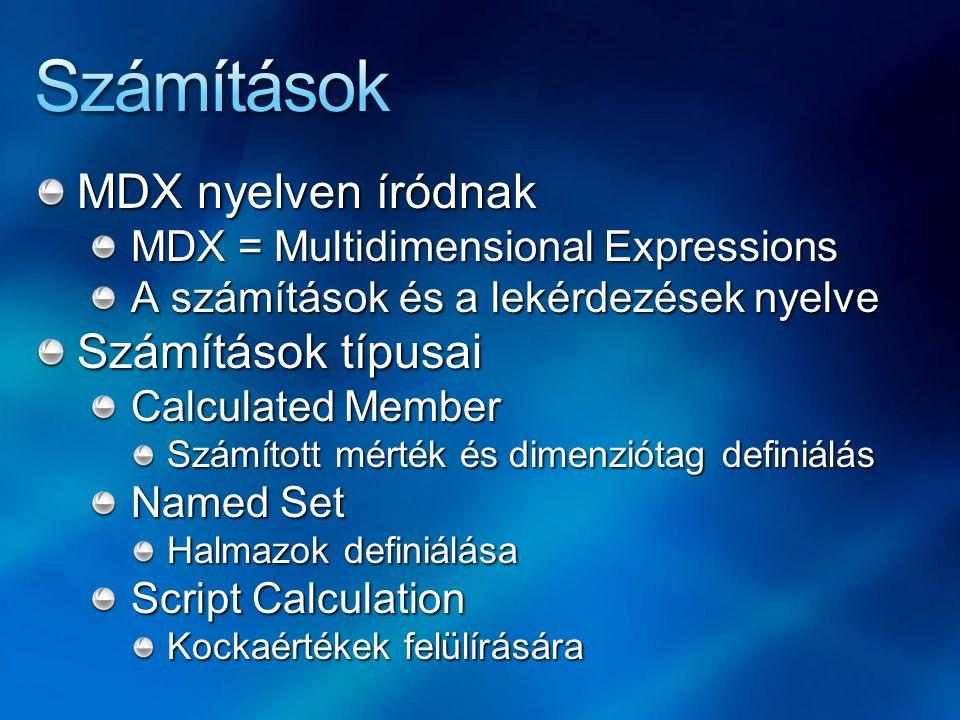 Számítások MDX nyelven íródnak Számítások típusai
