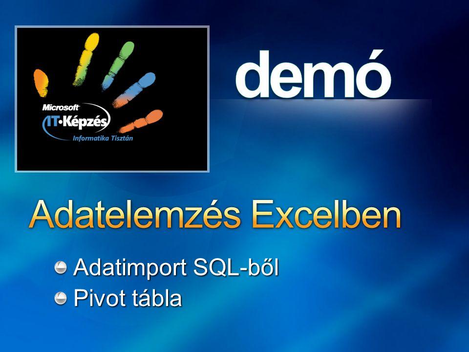 Adatelemzés Excelben Adatimport SQL-ből Pivot tábla