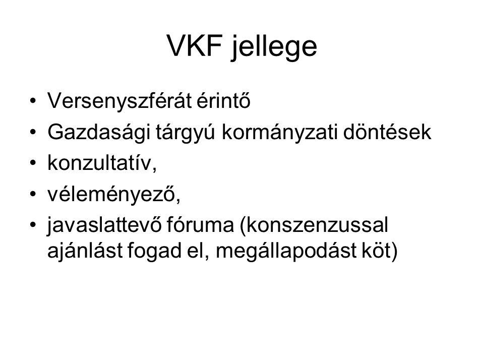VKF jellege Versenyszférát érintő