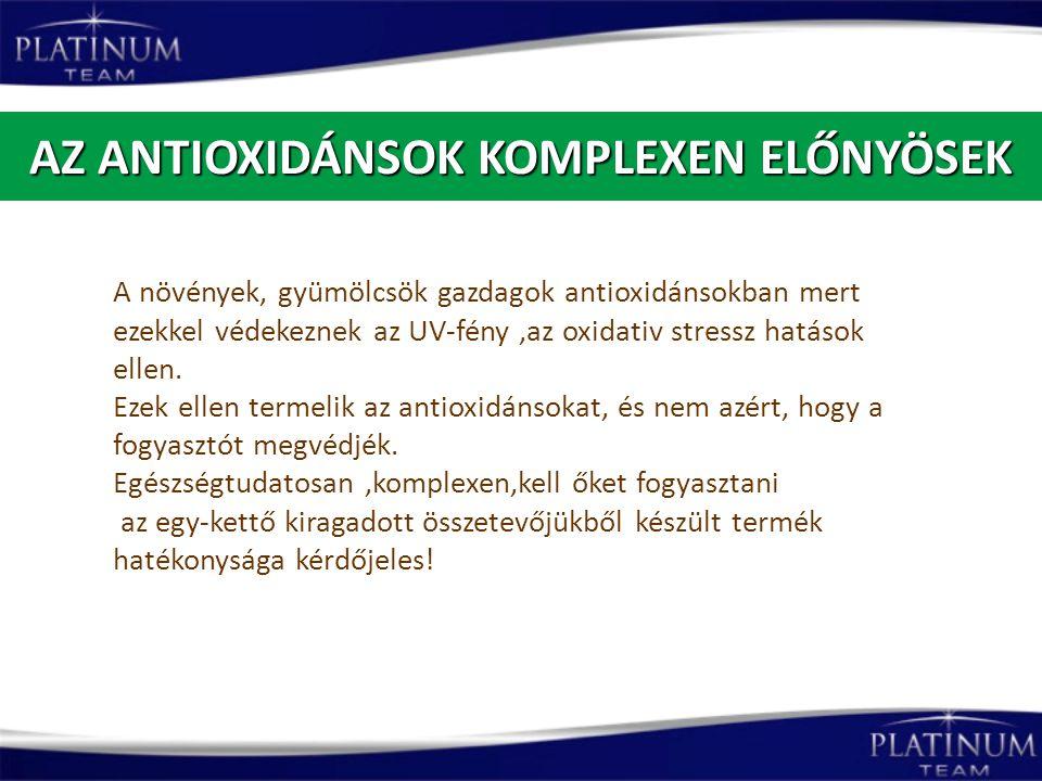 AZ ANTIOXIDÁNSOK KOMPLEXEN ELŐNYÖSEK