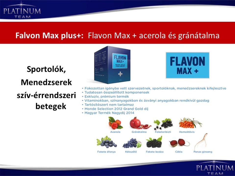 Falvon Max plus+: Flavon Max + acerola és gránátalma