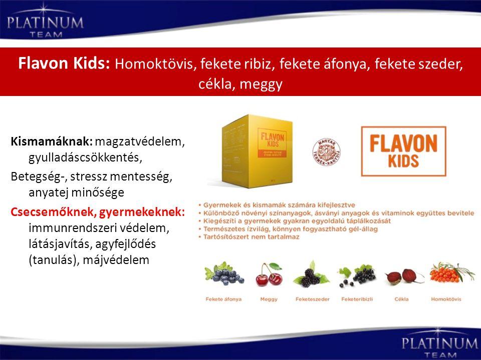 Flavon Kids: Homoktövis, fekete ribiz, fekete áfonya, fekete szeder, cékla, meggy