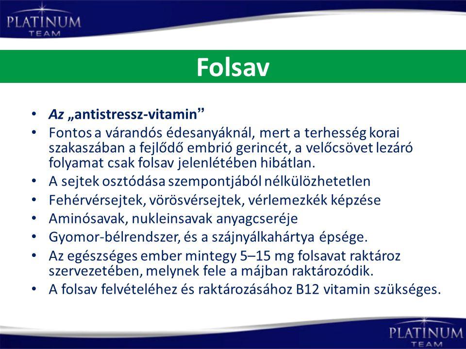 """Folsav Az """"antistressz-vitamin"""