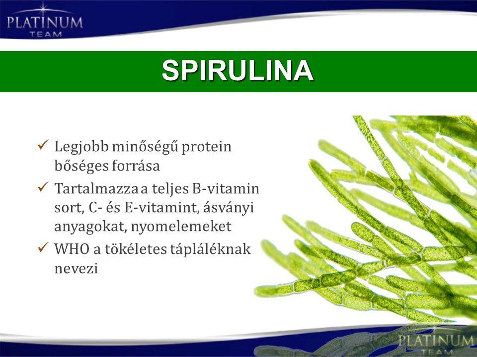 SPIRULINA Legjobb minőségű protein bőséges forrása