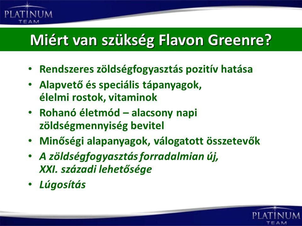 Miért van szükség Flavon Greenre