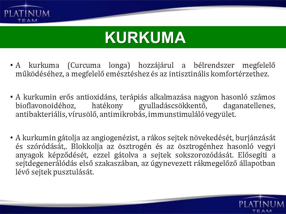 KURKUMA A kurkuma (Curcuma longa) hozzájárul a bélrendszer megfelelő működéséhez, a megfelelő emésztéshez és az intisztinális komfortérzethez.