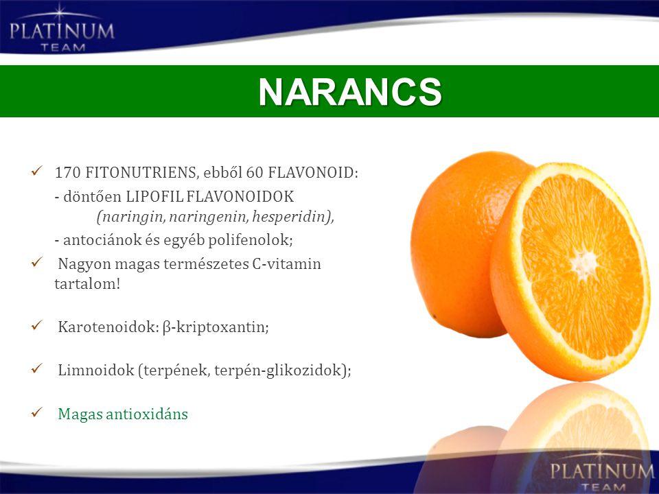 NARANCS 170 FITONUTRIENS, ebből 60 FLAVONOID: