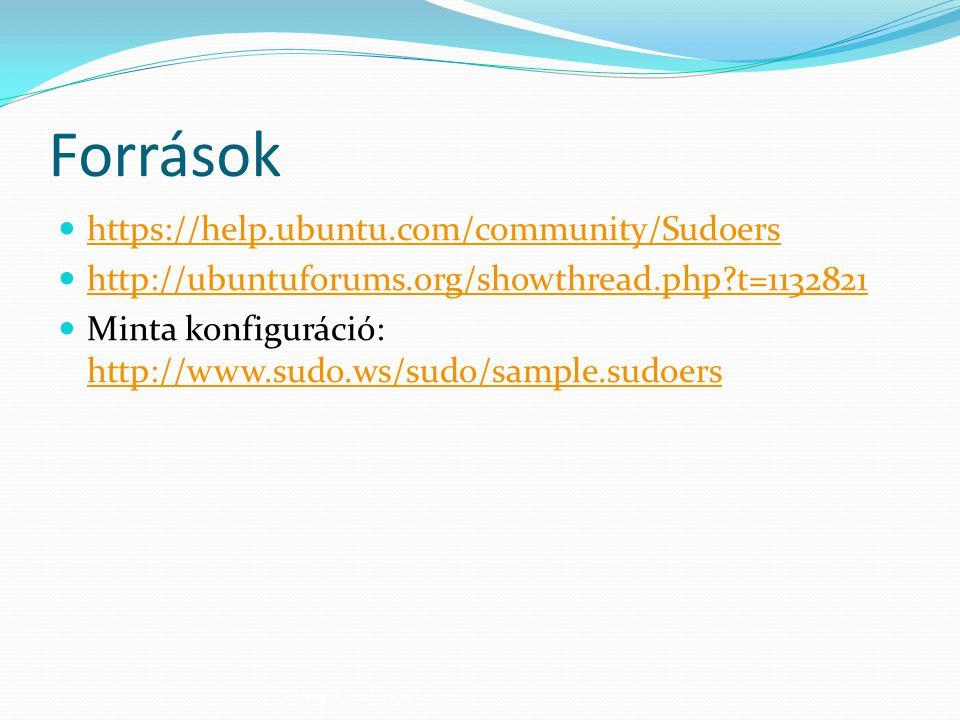 Források https://help.ubuntu.com/community/Sudoers
